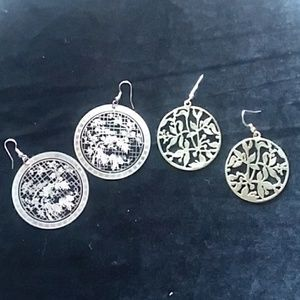 Jewelry - 🔷️For Charity🔷️ Floral Medallion earring bundle